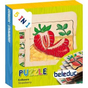Lagen Puzzle Erdbeere